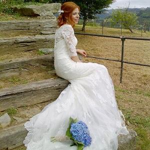 Vestidos de novia para boda civil en invierno